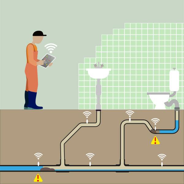 Leak Detection Illustration