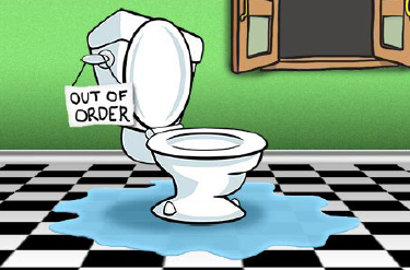 Out of Order Toilet Illustration